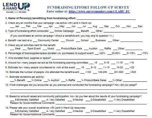 Follow Up Survey