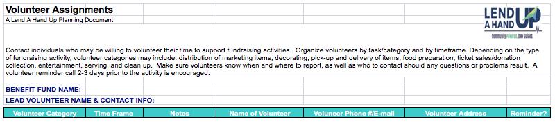 Volunteer Assignment